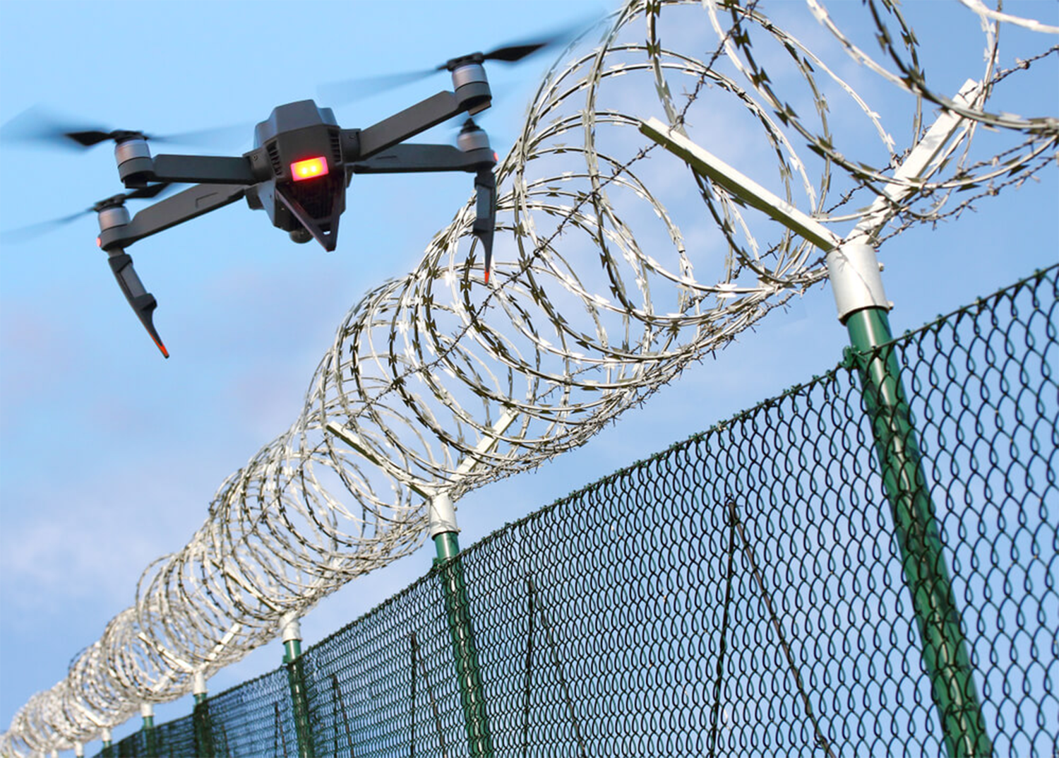 Drone entering a restricted airspace