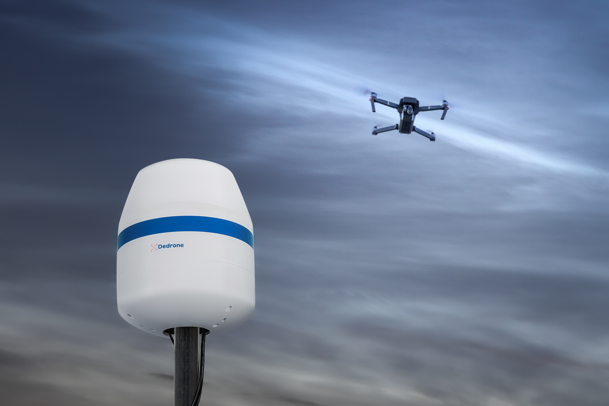 Begin building your airspace risk assessment with the Dedrone RF-160